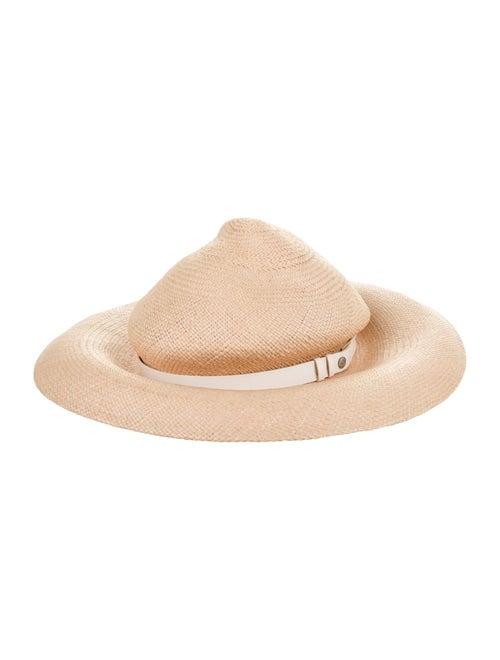 Rag & Bone Wide Brim Straw Hat Beige - image 1