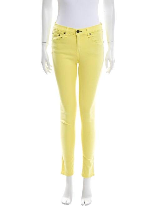 Rag & Bone Mid-Rise Skinny Leg Jeans Yellow