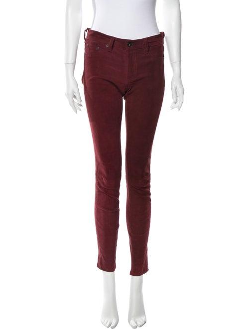 Rag & Bone Lamb Leather Skinny Leg Pants Red