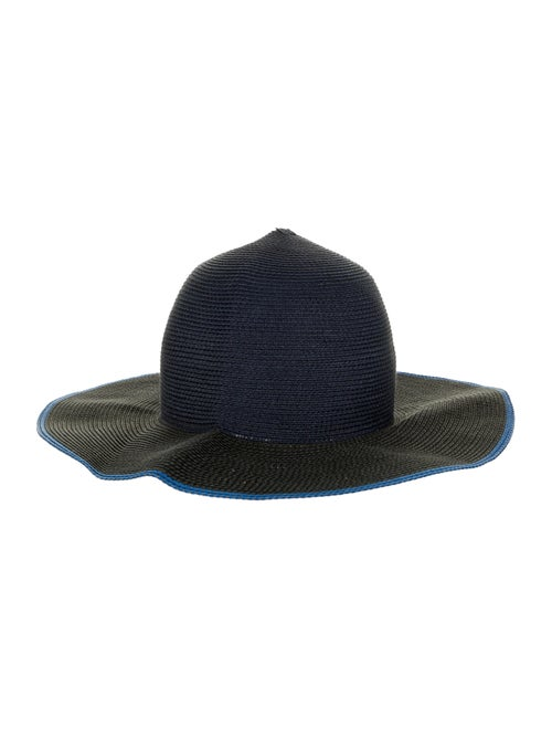 Rag & Bone Straw Wide-Brim Hat navy - image 1