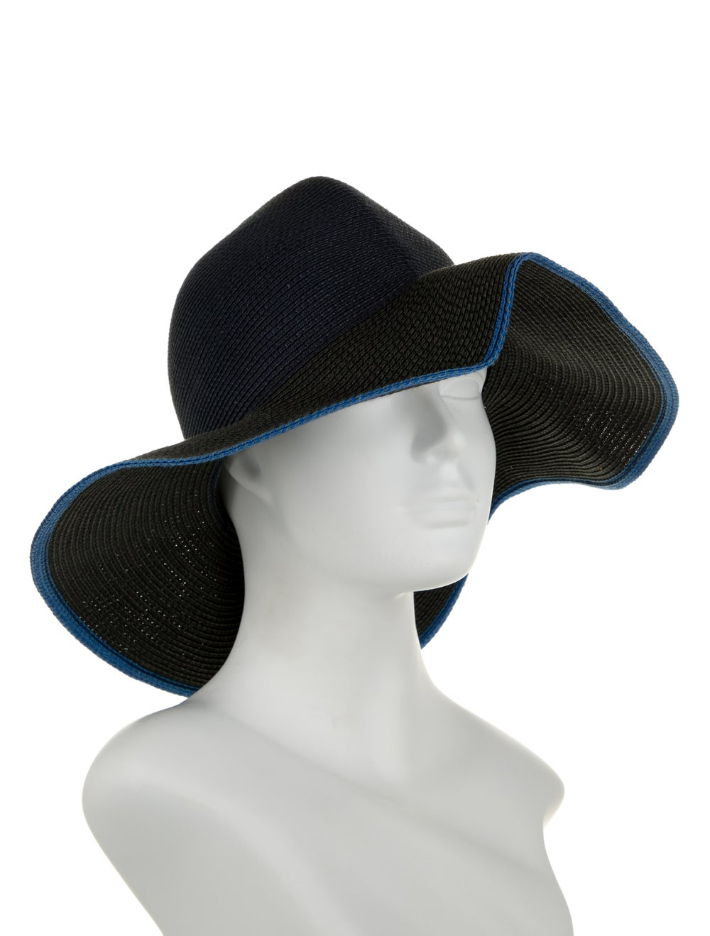 Rag & Bone Straw Wide-Brim Hat navy - image 3