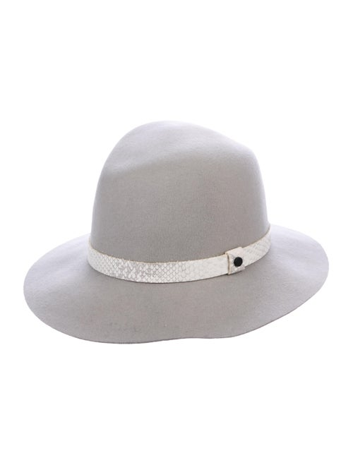 Rag & Bone Wool Fedora Hat Grey