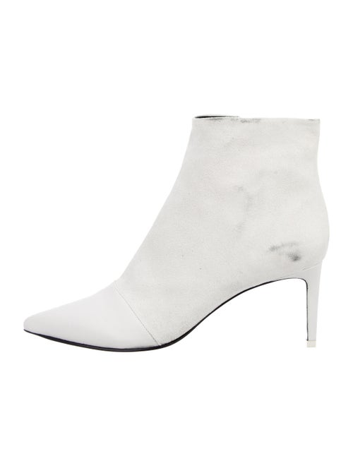 Rag & Bone Leather Pointed-Toe Ankle Boots White