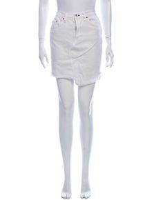 Rag & Bone Raw-Edge Trim Mini Skirt