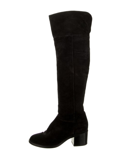 Rag & Bone Over-The-Knee Suede Boots Black