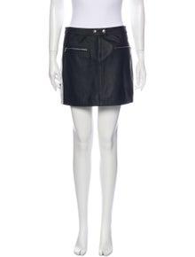 Rag & Bone Lamb Leather Mini Skirt