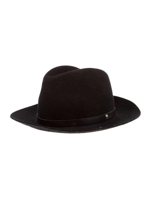 Rag & Bone Wool Fedora Hat Black