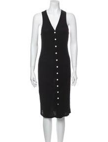 Rag & Bone V-Neck Midi Length Dress