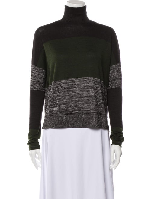 Rag & Bone Striped Turtleneck Sweater Green