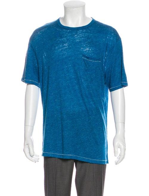 Rag & Bone Linen Crew Neck T-Shirt w/ Tags Blue