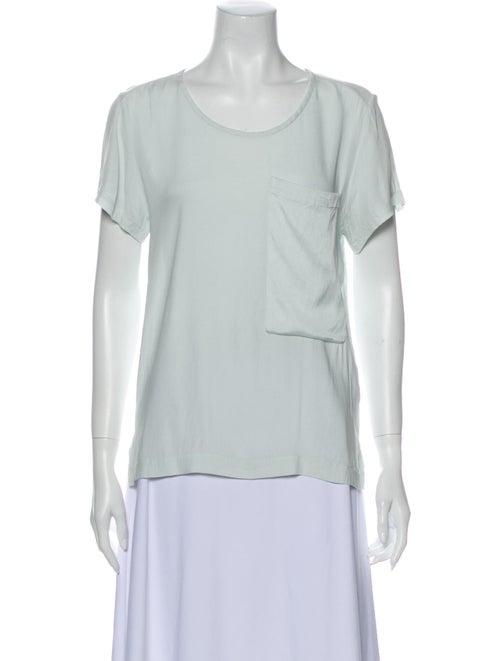 Rag & Bone Silk Scoop Neck T-Shirt Green