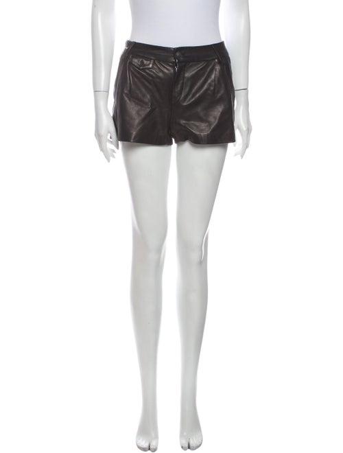 Rag & Bone Leather Mini Shorts Black