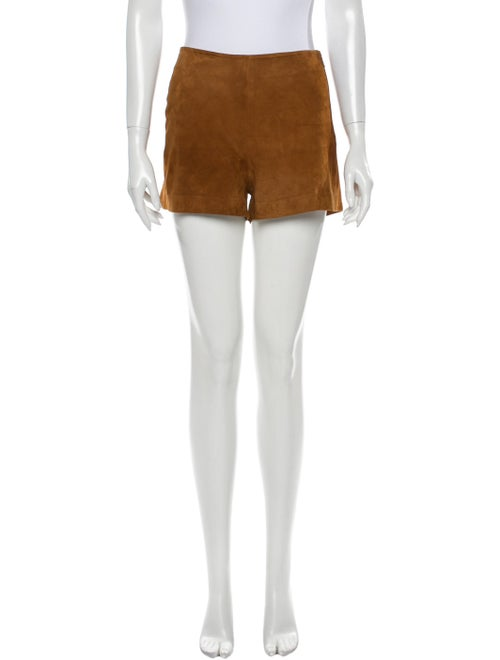 Rag & Bone Goat Leather Mini Shorts Brown
