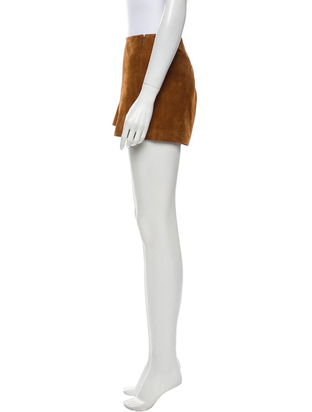 Rag & Bone Goat Leather Mini Shorts Brown - image 2