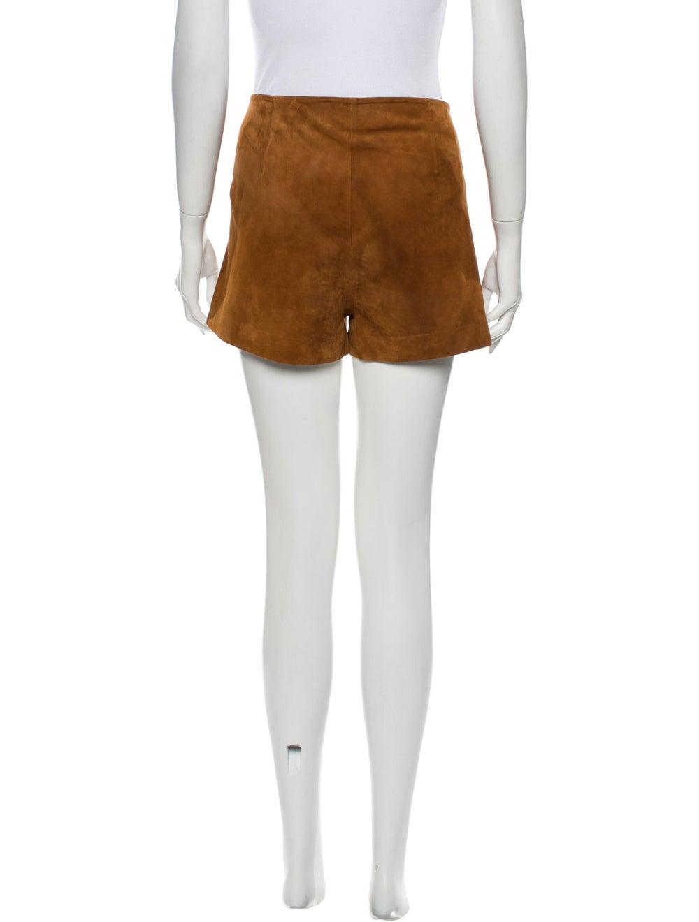 Rag & Bone Goat Leather Mini Shorts Brown - image 3