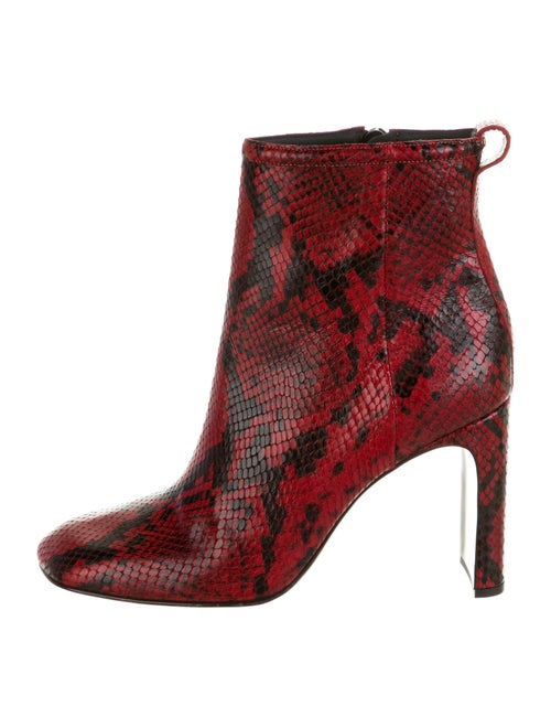 Rag & Bone Embossed Leather Boots Red - image 1