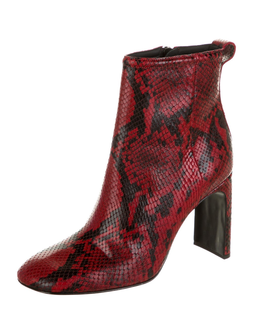 Rag & Bone Embossed Leather Boots Red - image 2