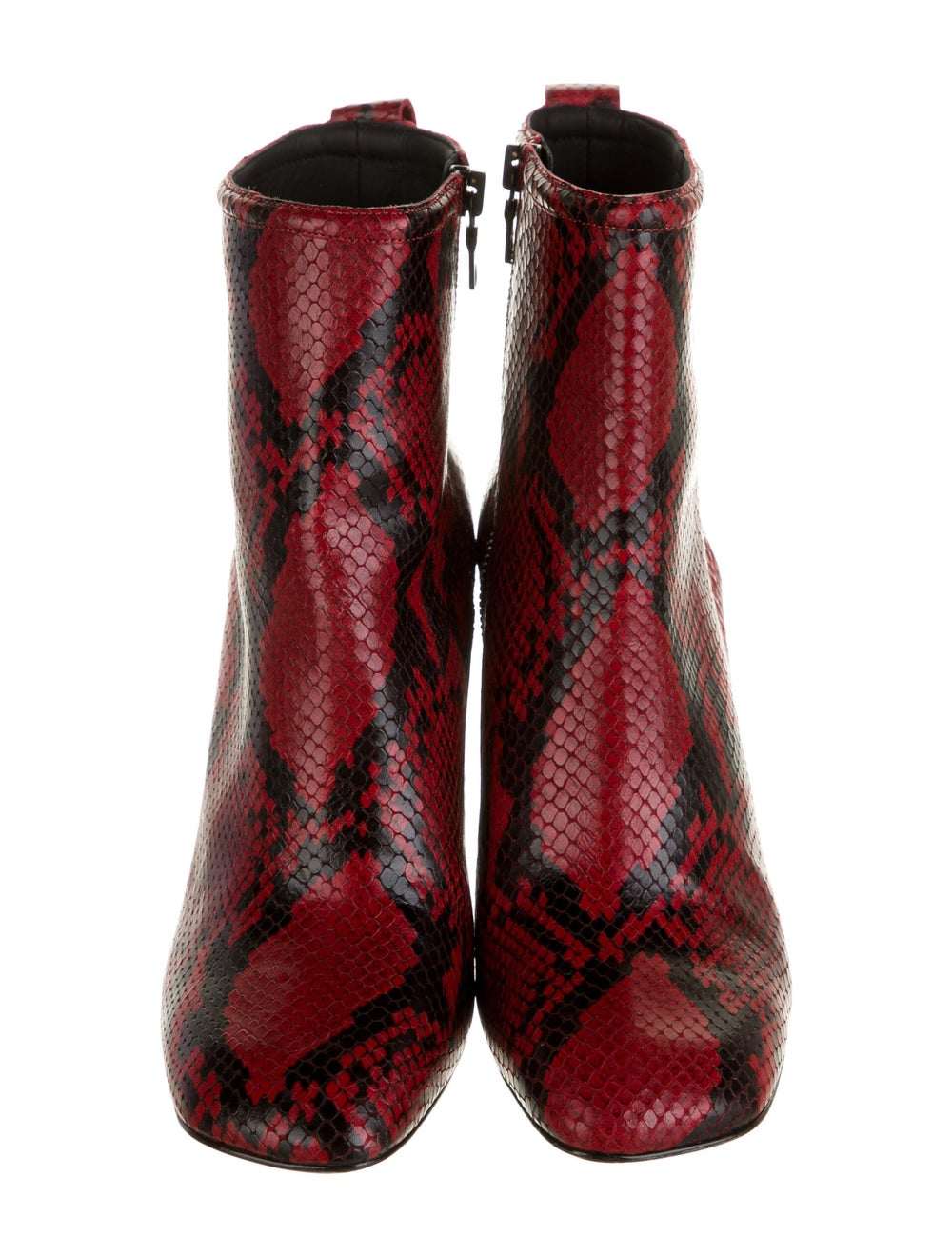 Rag & Bone Embossed Leather Boots Red - image 3