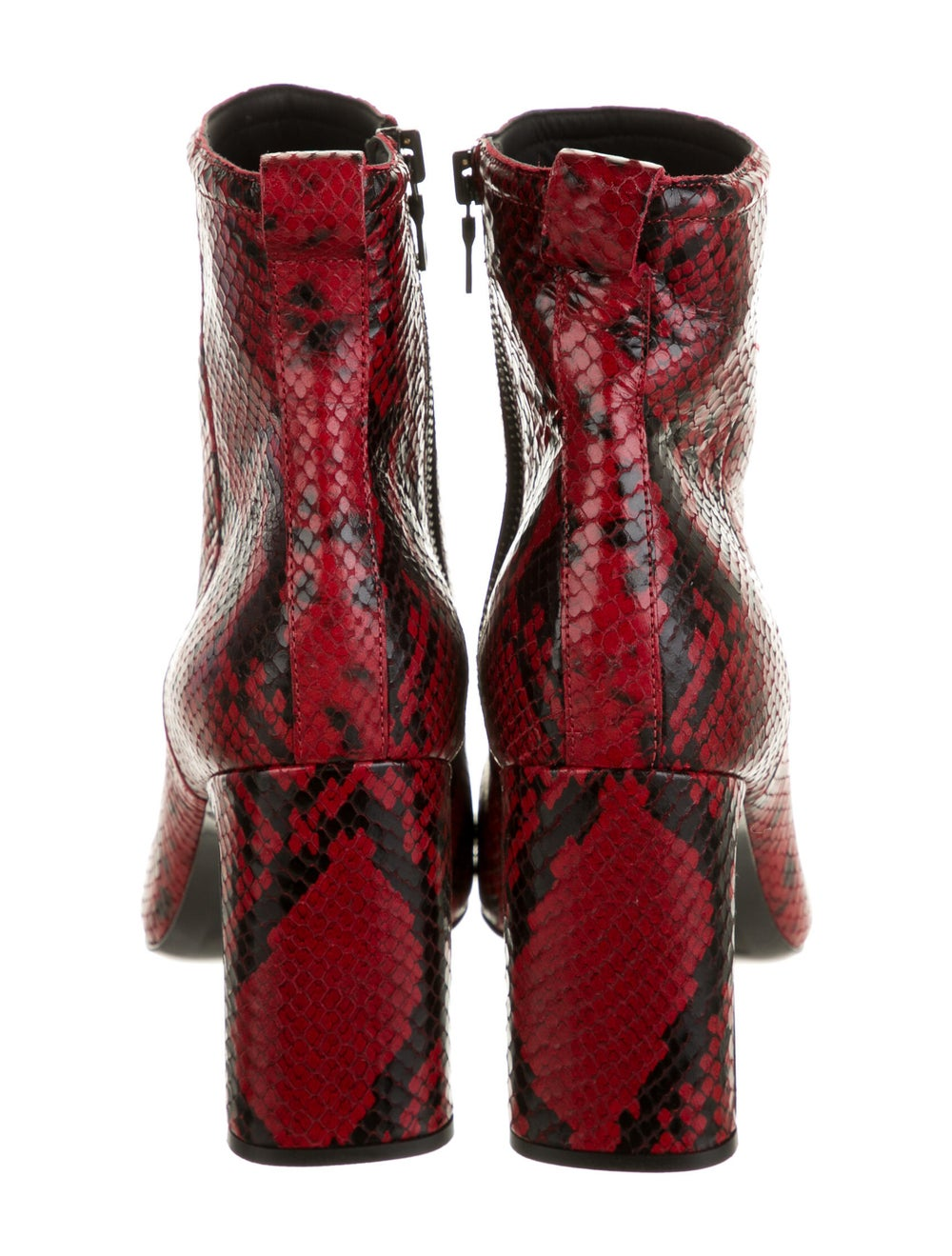 Rag & Bone Embossed Leather Boots Red - image 4