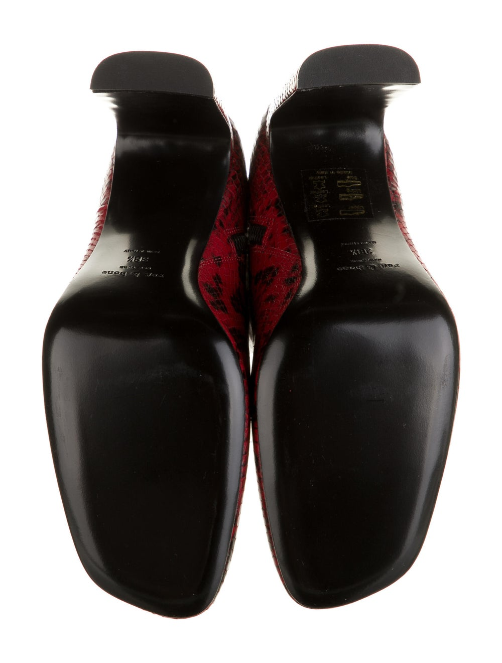 Rag & Bone Embossed Leather Boots Red - image 5