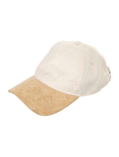 Rag & Bone Suede-Trimmed Baseball Cap Beige