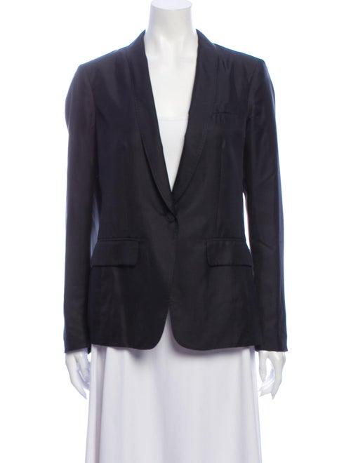 Rag & Bone Silk Blazer Black