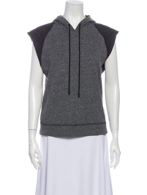 Rag & Bone Crew Neck Short Sleeve Sweatshirt Grey