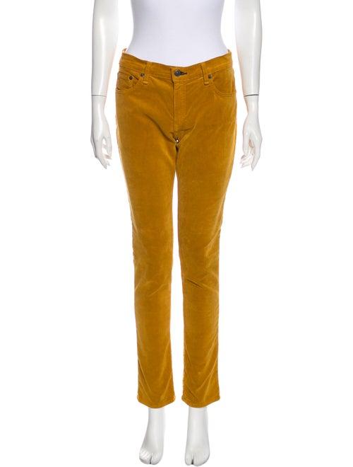 Rag & Bone Straight Leg Pants Yellow