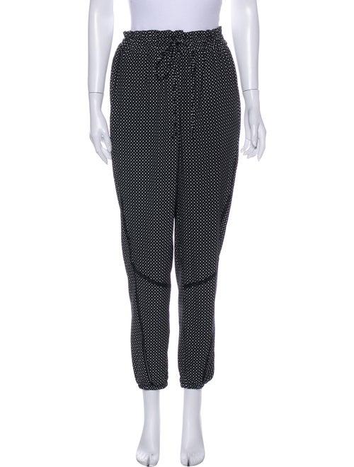 Rag & Bone Silk Printed Sweatpants Black