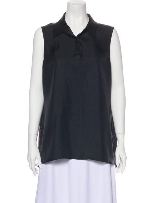 Rag & Bone Silk Sleeveless Blouse Black