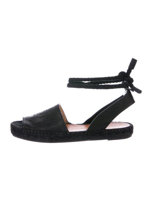 Rag & Bone Signature Logo Leather Sandals Black