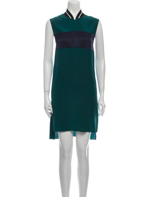 Rag & Bone Silk Knee-Length Dress Green