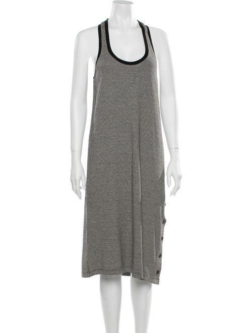 Rag & Bone Houndstooth Print Midi Length Dress