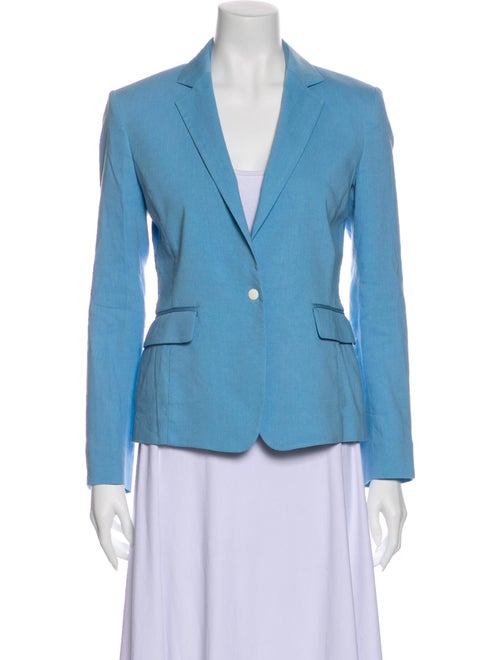 Rag & Bone Linen Blazer Blue