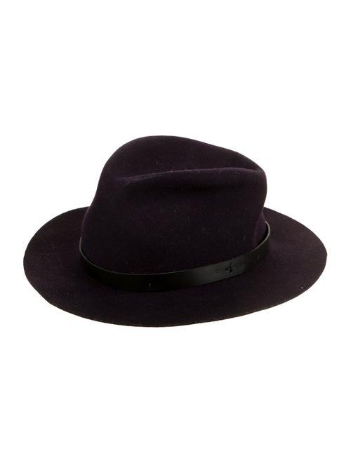 Rag & Bone Wool Wide Brim Hat Purple