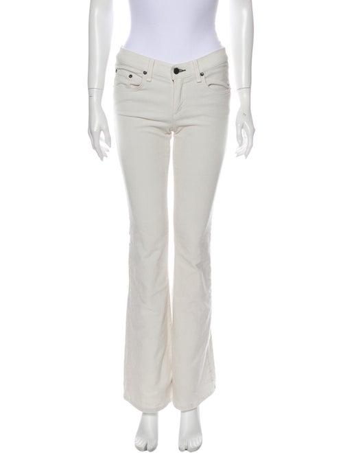 Rag & Bone Flared Pants White