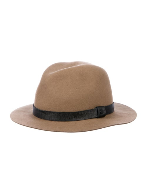 Rag & Bone Wool Fedora Hat Brown