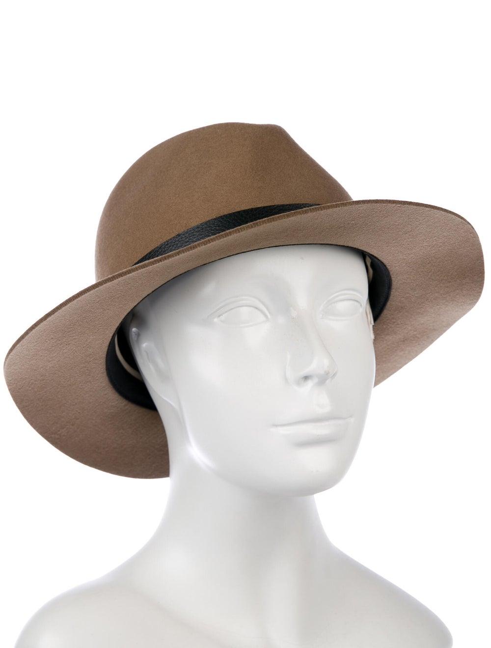 Rag & Bone Wool Fedora Hat Brown - image 3