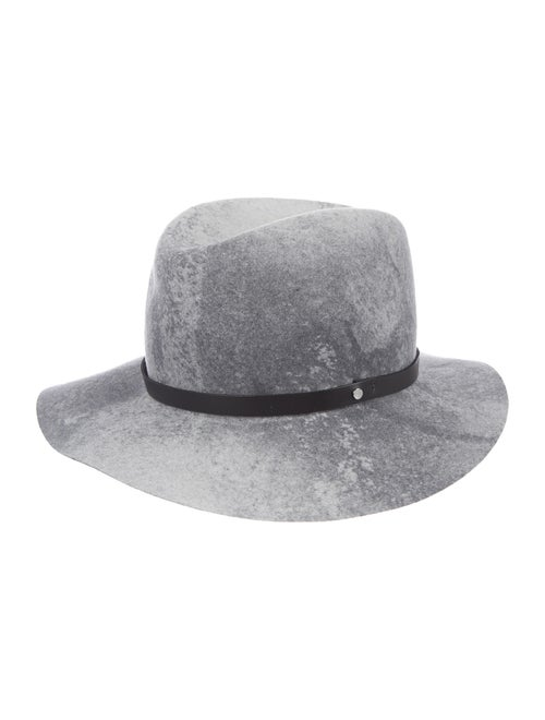 Rag & Bone Wool Fedora Hat Grey