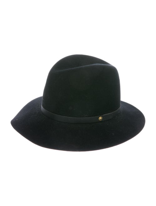 Rag & Bone Wool Fedora Hat Black