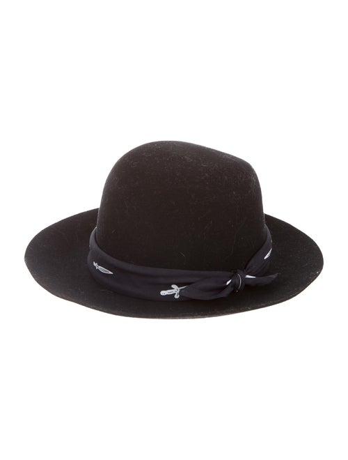 Rag & Bone Wool Fedora Hat Black - image 1
