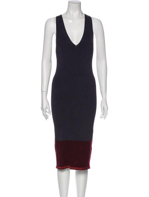 Rag & Bone Colorblock Pattern Midi Length Dress Bl