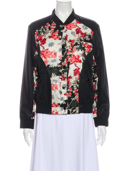 Rag & Bone Floral Print Reversible Bomber Jacket B