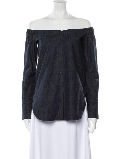 Rag & Bone Off-The-Shoulder Long Sleeve Button-Up