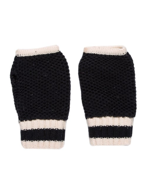 Rag & Bone Knit Fingerless Gloves Navy