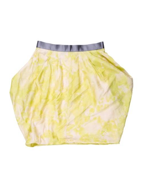 Rag & Bone Printed Mini Skirt Yellow