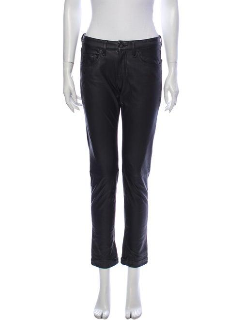 Rag & Bone Lamb Leather Skinny Leg Pants Black