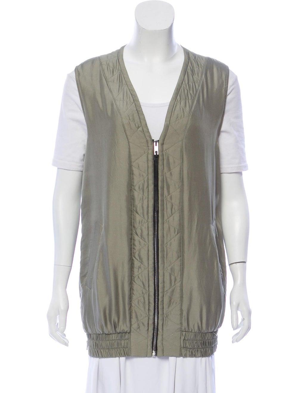 Rag & Bone Silk Vest Green - image 1