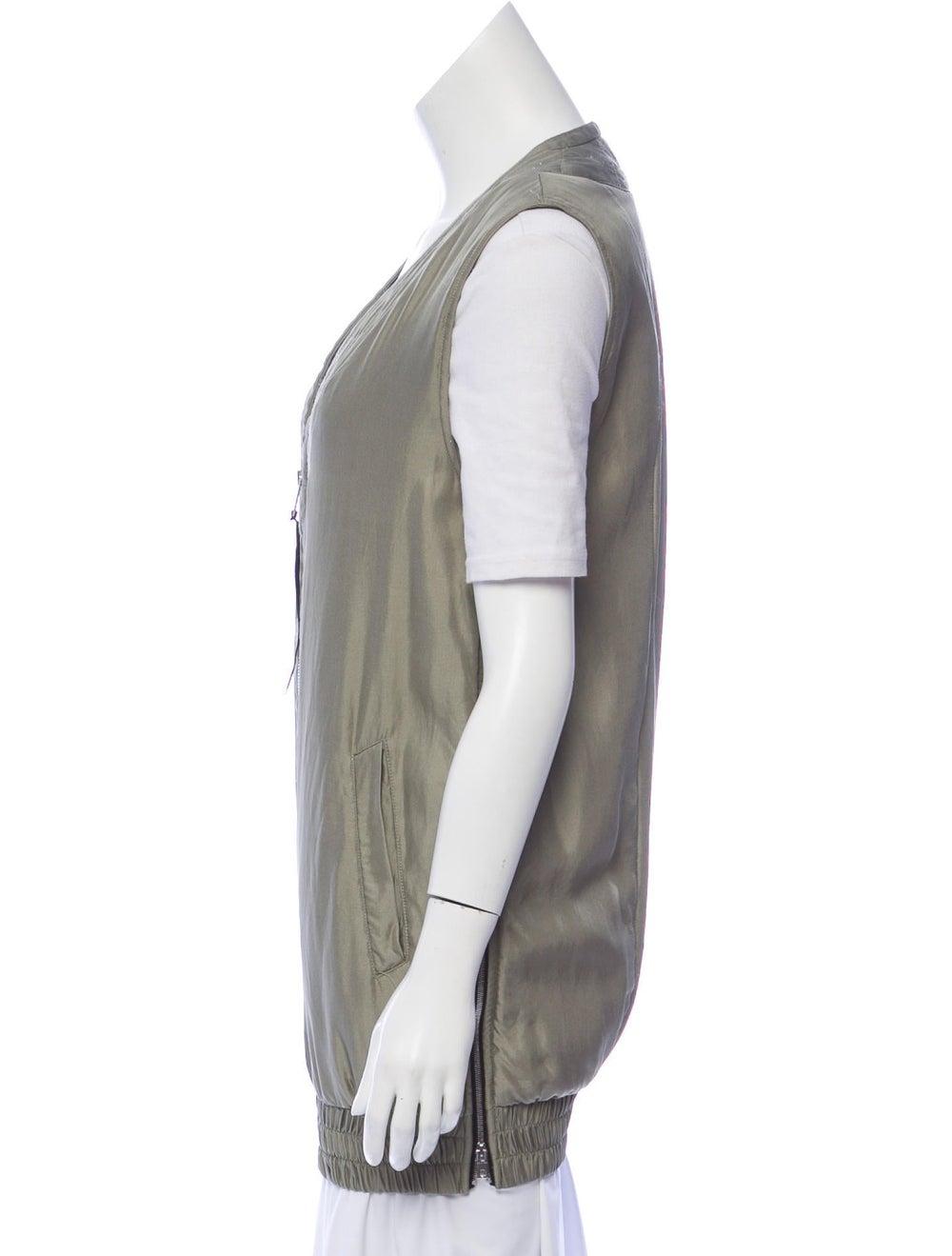 Rag & Bone Silk Vest Green - image 2