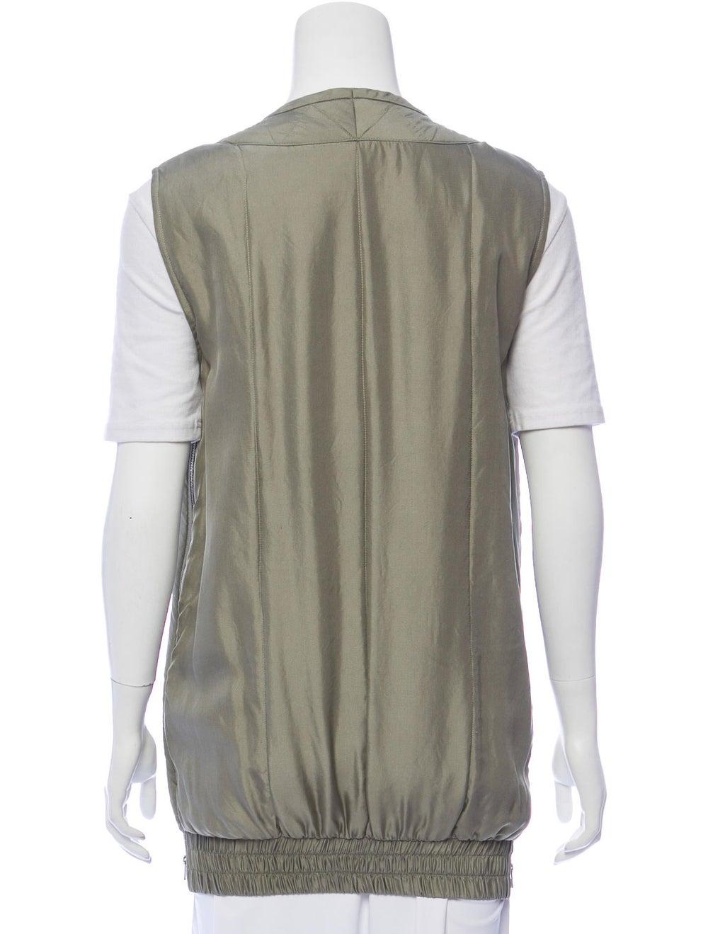 Rag & Bone Silk Vest Green - image 3
